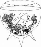 Aquarium Coloring Pages Tank Fishes Fish Whith Cat Previus Adults Coloringpages1001 Popular sketch template