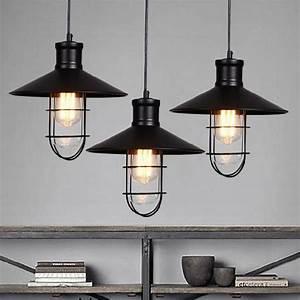 Rustic pendant lights vintage style lamps rounded