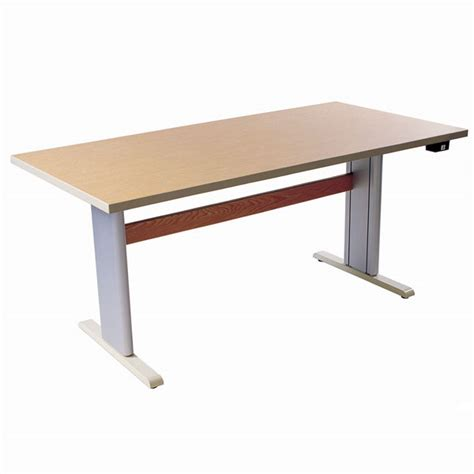 desk 40 inches long maxiaids accessible activity pc table power adjust ds