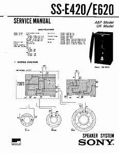 Sony Ss-e420 Service Manual
