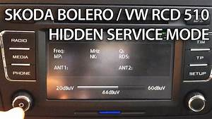 How To Enter Hidden Service Menu In Skoda Bolero    Vw Rcd