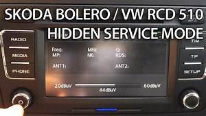 How To Enter Hidden Service Menu In Skoda Bolero    Vw Rcd 510  Yeti Superb Octavia Passat Golf