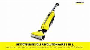 Nettoyeur Sol Vapeur : k rcher nettoyeur de sols fc 5 jaune youtube ~ Melissatoandfro.com Idées de Décoration