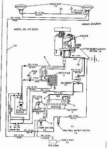 Craftsman Sears St 12 Tractor  Wiring Diagram Parts