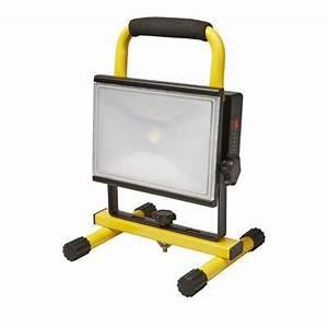Projecteur Led Castorama : projecteur de chantier led rechargeable sur support ~ Melissatoandfro.com Idées de Décoration