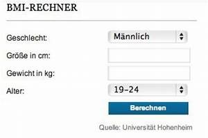 Bmi Berechnen Wie : bmi rechner ermitteln sie ihren body mass index die welt ~ Themetempest.com Abrechnung