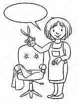 Salon Coiffure Coloriage Coloring Kapper Kleurboek Grappige Hairdresser Colorare Stockillustratie Parrucchiere Spa Funny Ohbq Serban Friseur Andreas Chariot Depositphotos Niveaux sketch template