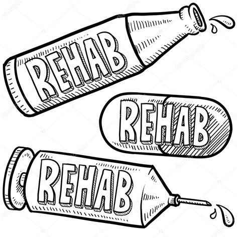 drug  alcohol rehab sketch stock photo  lhfgraphics