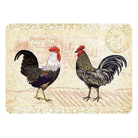 Kitchen Mat Rooster by The Softer Side By Weather Guard Rooster Provence Kitchen
