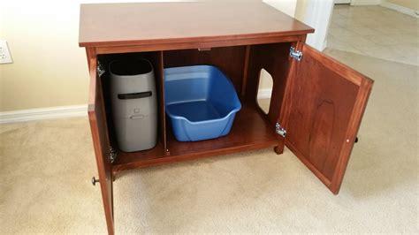 custom litter box cabinets litter genie storage odor free custom hand made in usa