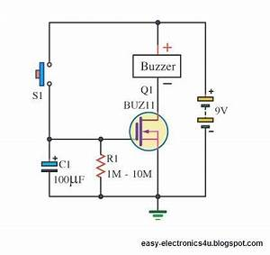 simple dc timer using mosfet on off after delay easy With power delay circuit