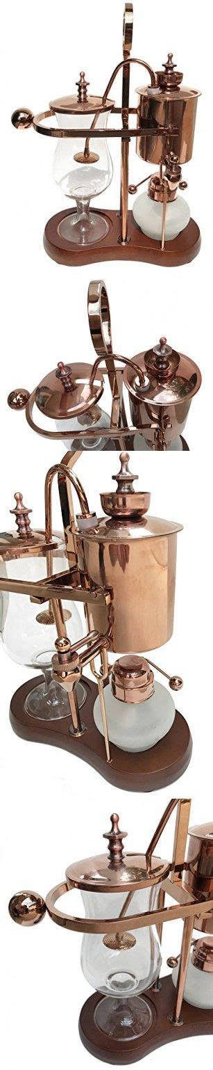 Using denatured alcohol to heat the water, the brewing cup collects the evaporated water and mixes it with coffee grounds. Nispira Belgian Belgium Luxury Royal Family Balance Syphon ...