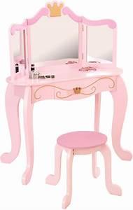 Coiffeuse En Bois Petite Fille : coiffeuse en bois et tabouret rose pour enfant princess ~ Teatrodelosmanantiales.com Idées de Décoration