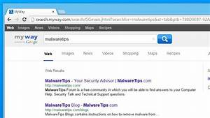 Remove Search.myway.com redirect from Web Browser (Help Guide)