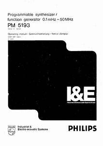 Philips Pm5134 Sm Service Manual Download  Schematics