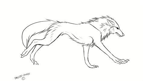 running wolf animation  darkside cookie canine study