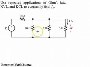 Example: Application of Kirchhoff's Voltage Law (KVL ...