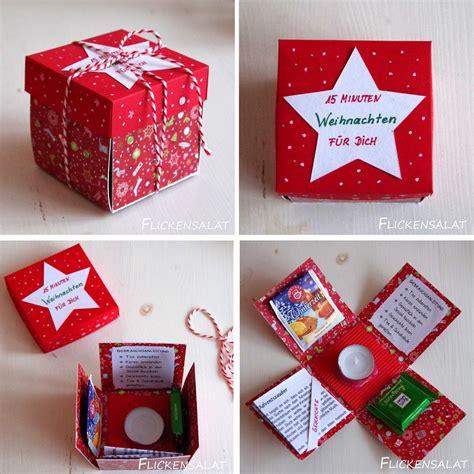 weihnachten geschenk flickensalat 15 minuten weihnachten geschenk diy