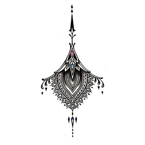 tatouage underboobs sein tatouage ephemere mandala sein