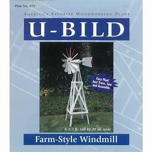 Shop U-Bild Farm-Style Windmill Woodworking Plan at Lowes com