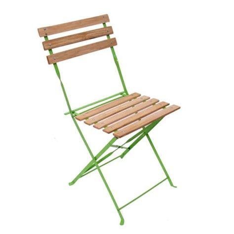 chaise de terrasse chaise de jardin brasserie terrasse pliante bois métal