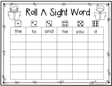 roll a sight word editable freebie by the reading 370 | original 647920 4