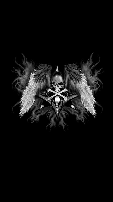 Dark Skull Wings iPhone Wallpaper | 2020 3D iPhone Wallpaper