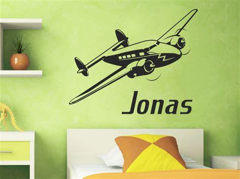 Wandtattoo Kinderzimmer Flugzeug by Wandtattoo Flugzeug Mit Wunschname Flugzeug Wandaufkleber