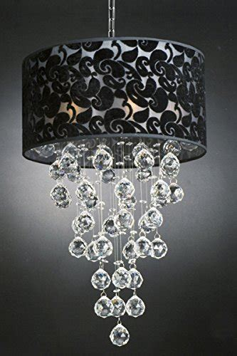 Chandelier With Black Shade And Drops by Modern Chandelier With Black Shade Drop Lighting
