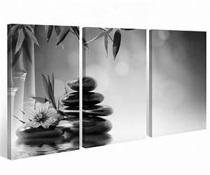 Schwarz Weiß Bilder Gerahmt : leinwand 3 tlg wellness schwarz wei steine blume wasser bilder wandbild 9a429 holz fertig ~ Watch28wear.com Haus und Dekorationen