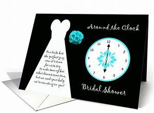 bridal shower invitations easyday With around the clock wedding shower