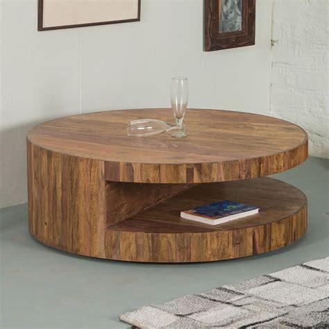 design couchtisch rund runder couchtisch skivor design tisch rund sheesham holz im finish 90x32cm gt 299