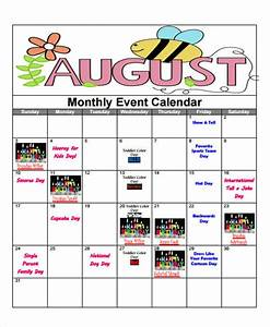 attractive monthly event calendar template embellishment With weekly event calendar template