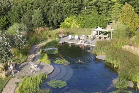 Swimming Pond :  Natural Swimming Pools By Biotop