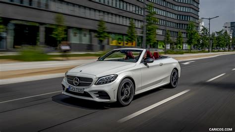Transferring up a league doesn't always deliver success. 2019 Mercedes-Benz C-Class C300 Cabrio (Color: Diamond White) - Front Three-Quarter   HD ...