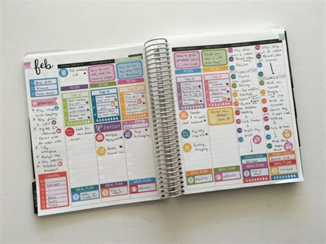 ultimate planner page size guide  printable reference