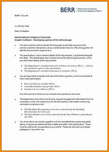 how write tender letter sample 5 fresh imagine of a With tender specification template