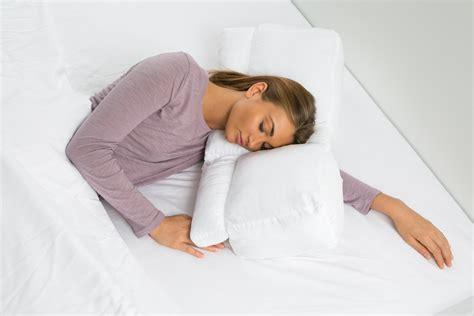 Arm Sleeper - better sleep pillow white goose sleeping w arm