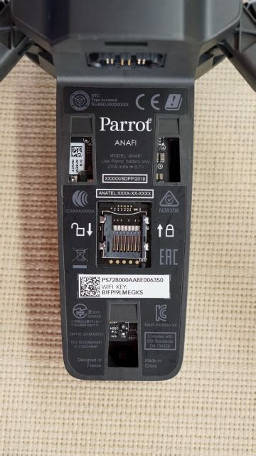 parrot anafi memory card holder