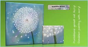 Strandbilder Auf Leinwand : kreativ statt bild acryl malen pusteblume painting dandelion youtube ~ Watch28wear.com Haus und Dekorationen
