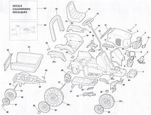 Peg Perego Craftsman Tractor Parts