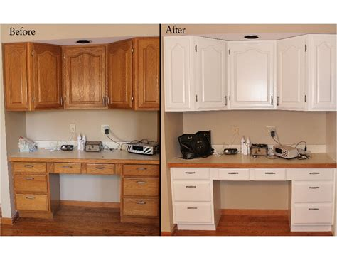 painting oak cabinets white before and after photos of painted oak cabinets