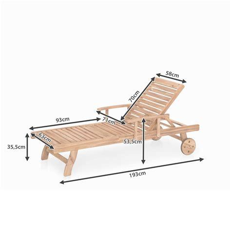 chaise de jardin chaise longue de jardin bois teck providence maisons du