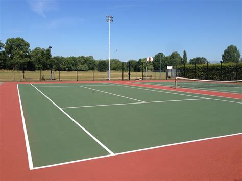 Located southwest of the olympic stadium, they hosted the basketball and the épée fencing event for the 1936 summer olympics. Tennis Court Dimensions | UK Tennis Courts Size