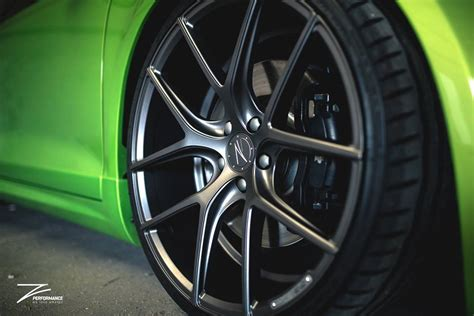 z performance wheels z performance wheels on viper green painted vw scirocco
