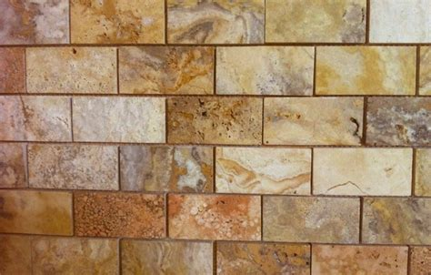 2x4 Scabos Tumbled Travertine Tiles by 2x4 Scabos Polished And Unfilled Travertine Mosaic Tile