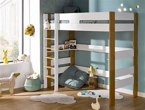 Lit Mezzanine Enfant : lit mezzanine enfant scandi blanc ch ne 90x190 fabriqu en france ~ Teatrodelosmanantiales.com Idées de Décoration