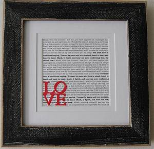 Wedding vow art printed vows framed