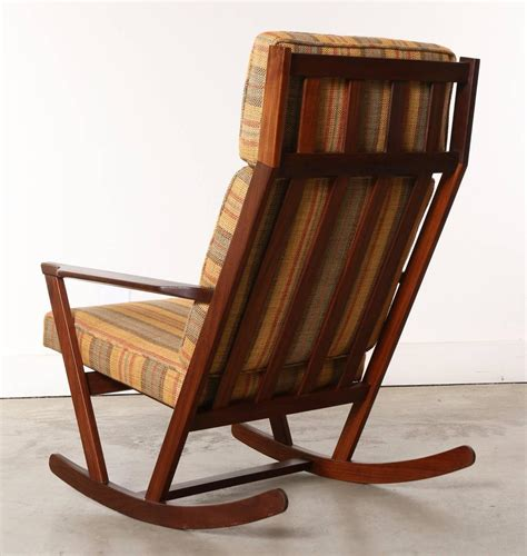 modern wooden rocking chair with cushions designed