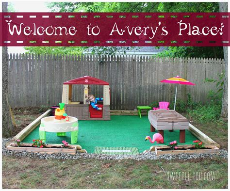 Diy Outdoor Play Space  Avery's Place!  Sweet Lil You
